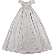 Ayrshire Christening Gown Antique Handmade Embroidery