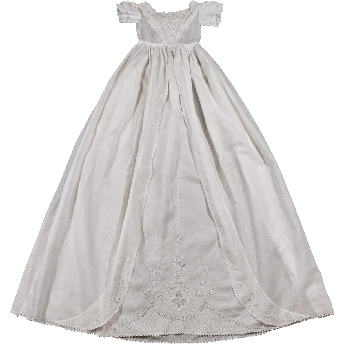 Ayrshire Christening Gown Antique Handmade Embroidery from ...