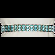 Turquoise Blue Rhinestone Bracelet