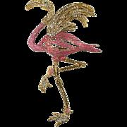 Rare Chanel Pink Flamingo Brooch Pin