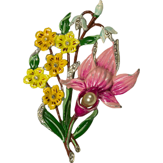 Chanel Novelty Floral Brooch Pin