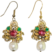 Early Miriam Haskell Earrings