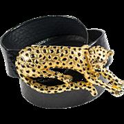 Mimi Di N Leopard Belt Buckle and Belt