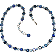 Vintage Blue Choker in 3 Shades of Blue