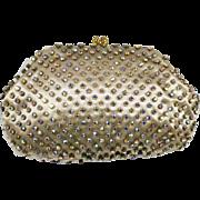 Vintage Rhinestone Evening Purse Clutch Bag