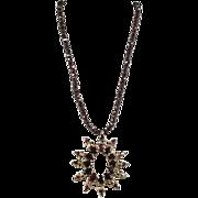 Victorian Garnet Articulated Pendant and Garnet Necklace