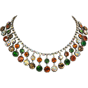 Vendome Multi-Colored Rhinestone Necklace
