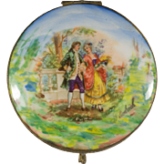 Hand Painted Mirrored German Porcelain Box