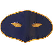 Rare Vintage ELIZABETH ARDEN masquerade BLUE MASK COMPACT Collector's Book Item Novelty