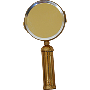 """Vintage FRENCH """" MIRADORE """" Compact shape of a Magnifying glass w/ Down PUFF"""
