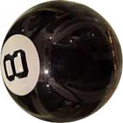 8 Ball Compact by Henriette Collector's Vintage Eight Ball Billiard