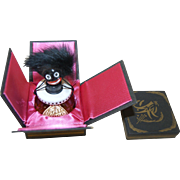 SALE Rare Vintage 1920's French Golliwogg Perfume FULL Bottle Vingy w/ Org. Box