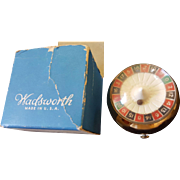 Vintage Wadsworth Roulette Wheel Compact Novelty Book Item for collector figural