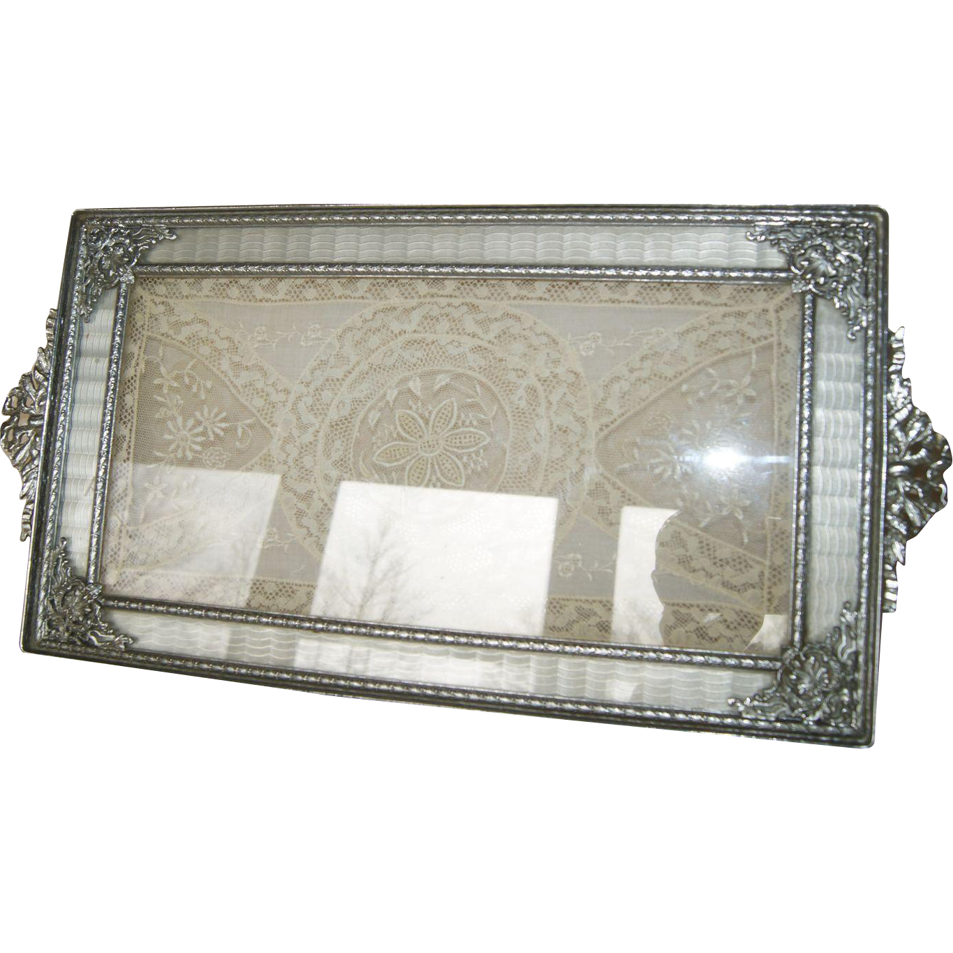 Vintage 1920's Silver Apollo Studios Vanity Perfume Tray Guilloche From  Fifis-antique-perfume-bottles-compacts On Ruby Lane