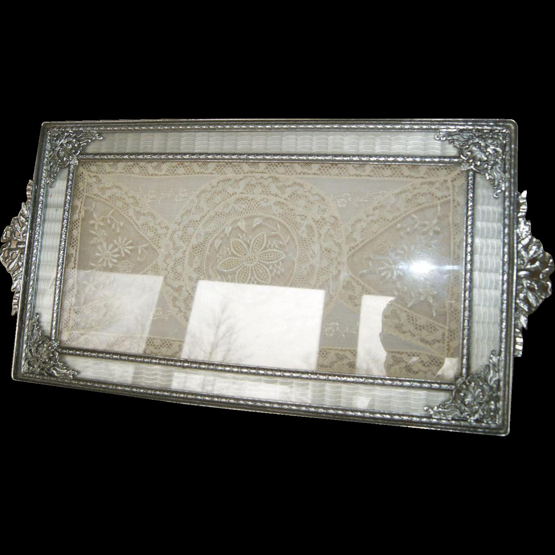 Vintage 1920 S Silver Apollo Studios Vanity Perfume Tray Guilloche