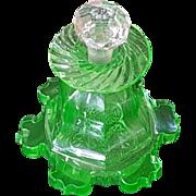 19th Century Green Perfume Bottle Antique Boston & Sandwich