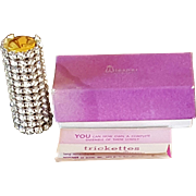 Trickettes by Wiesner Vintge Jeweled Rhinestone Lipstick with org. Box and Pamflet