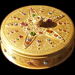 Rare Apollo Studios 1920's Jeweled Dresser Box Trinkets Casket