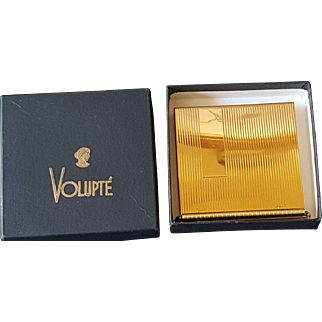 Vintage Volupte Compact w/ Org. Box Never Used Mint Condition