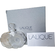 Lalique Flacon 2 Fleurs  Perfume Bottle w/ New in Box Never Used Mint Condition