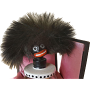 "1920's French Vingy Golliwogg Perfume Bottle w/ Box 3.5"" Bottle"