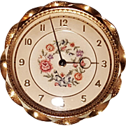 SUPERB Regent Of London Petit Point Filigree Dressing Table Vanity Clock Works Well