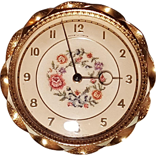 SUPERB Regent Of London Petit Point Filigree Dressing Table Vanity Clock Works Well