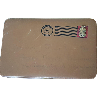 Cool Old Letter Shaped Novelty Compact by Evans