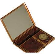 Cool Looking Pocket Watch Compact Vanity * Clock works!
