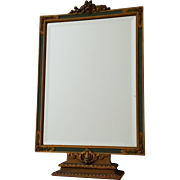 Charming Vintage Barbola Vanity Table Beveled Mirror