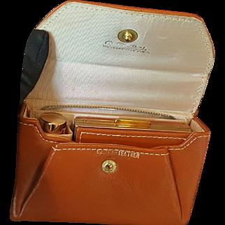 Vintage unused Britemode Leather Compact Vanity Kit Cute!
