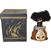 Antique French VINGY Le Golliwogg w/Box MINT CONDITION Serious Collector dream Full Unopened Perfume Bottle
