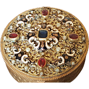 Antique Austrian Jeweled Compact