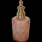 Antique Baccarat / Val St. Lambert Perfume Bottle Red Cameo Glass Acid Cut