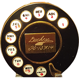Vintage Rotary Telephone Compact