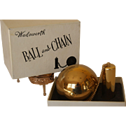 "Ball and Chain ""Compact w/ ORG. BOX !! by Wadsworth  Collector Item"
