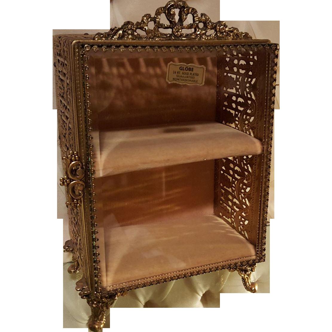 fab vintage double shelf vitrine jewelry trinket box. Black Bedroom Furniture Sets. Home Design Ideas