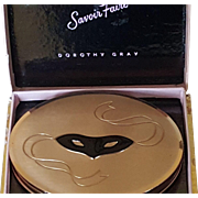 Vintage 1940's Dorothy Gray Savoir Faire Masquerade Compact w/ Org. Box