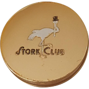 Vintage Stork Club Compact w/Puff NEVER USED