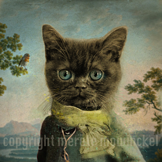 """Dressed to Impress"" , digital image of aristocratic cat"