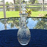 Etched Honeycomb Cruet Perfume