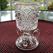 Toothpick Match Holder US Glass 1895-1905 3 Handle