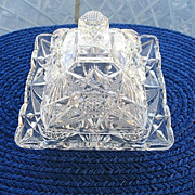 Butter Dish Antique U.S. Glass Illinois 1897 - Red Tag Sale Item