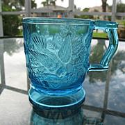 Robin In a Tree 3 Cups 8 oz.Blue  EAPG Bryce Walker