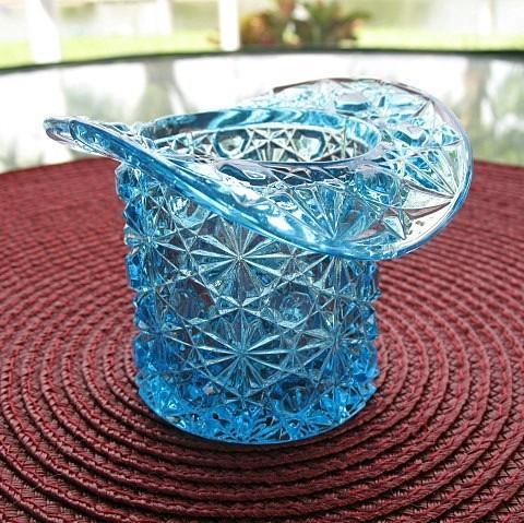 Blue daisy button hat novelty toothpick holder from pastwareslane on ruby lane - Novelty toothpicks ...