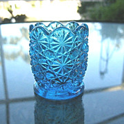Daisy Button Blue Toothpick Holder