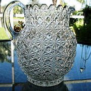 Daisy Button Water Pitcher #2 Bryce Bros.  1886
