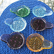 Daisy Button5 Handled Butter Pats Coasters