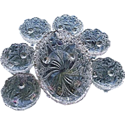 Daisy Button Narcissus 7 pc. Bowl Set Indiana Glass