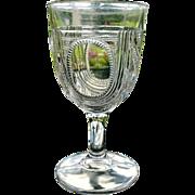 Beaded Oval Window aka Argyle 1885 Water Goblet #2